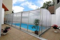 zastřešení bazénu - typ Casablanca